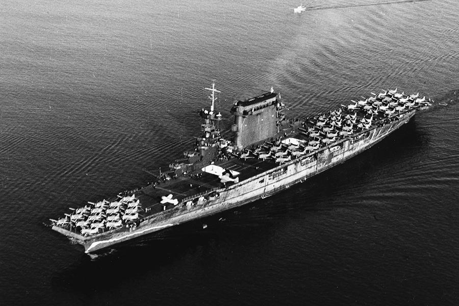 美著名航母二戰中沉沒 76年後殘骸被發現