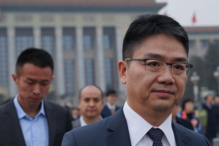 2018年3月3日,京東集團董事局主席兼CEO劉強東參加中共全國政協會議開幕式。(Lintao Zhang/Getty Images)