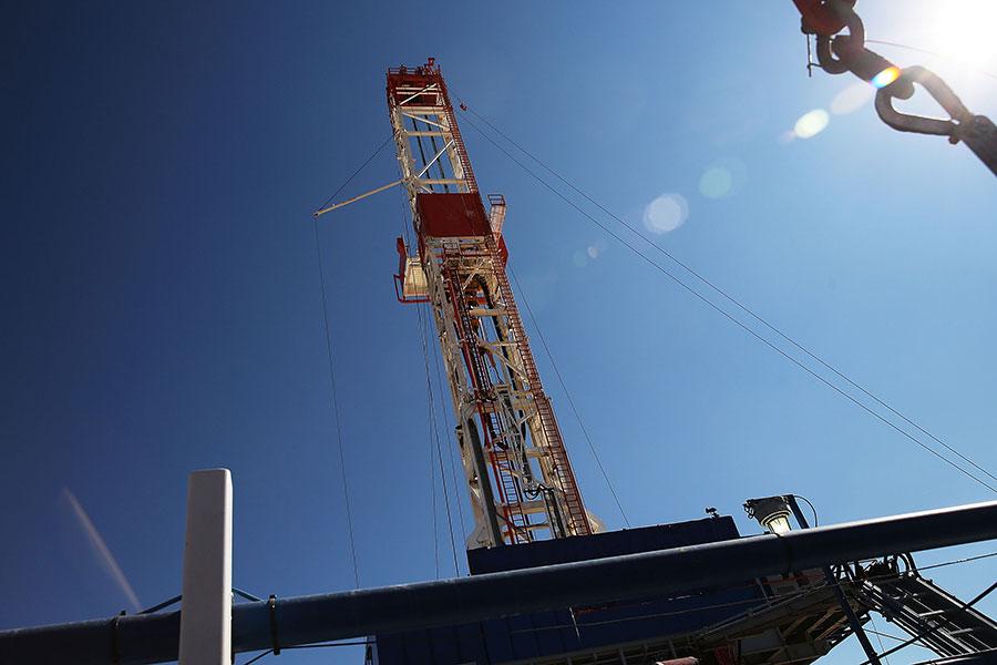 位於美國德州MENTONE的一個石油鑽台。(Spencer Platt/Getty Images)