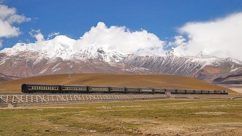 青藏鐵路。(受訪者提供)