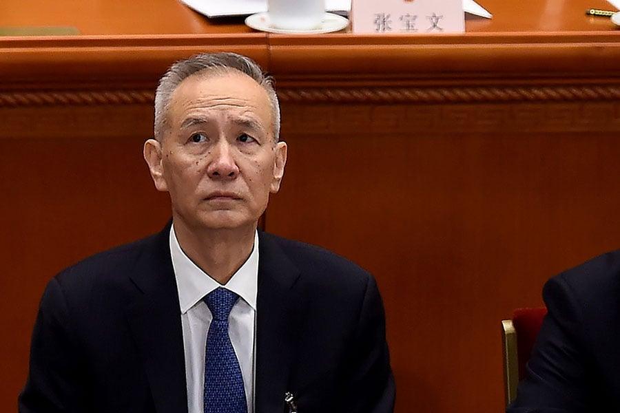 劉鶴。(WANG ZHAO/AFP/Getty Images)