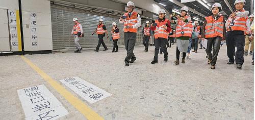 人大「議決」西九龍高鐵總站實施「一地兩檢」安排,做法受到香港法律界嚴厲批評。(政府新聞網)