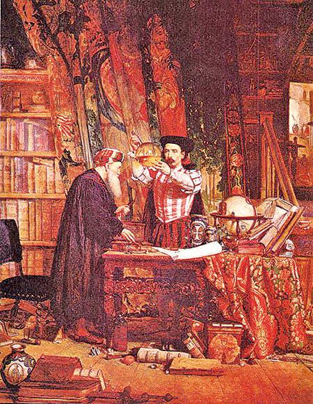 製造萬靈藥及製備長生不老藥的煉金術師。(維基百科)