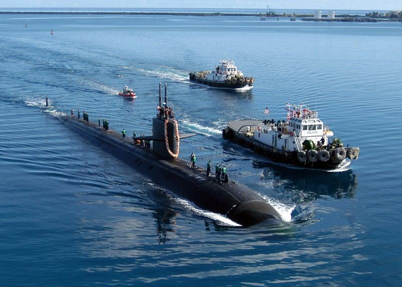 核潛艇是現代軍事中的海軍威懾力量。圖為美國核潛艇在執行任務。(Getty Images)