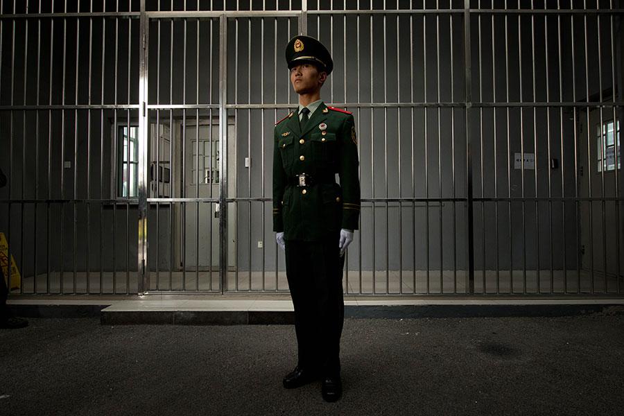 圖為北京一座監獄示意圖。(Ed Jones/AFP/Getty Images)