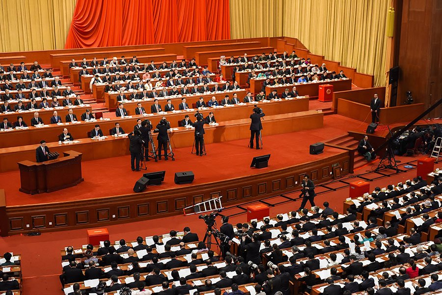 在中共3月召開的兩會上,哪些領導人獲得最多反對票?(Etienne Oliveau/Getty Images)