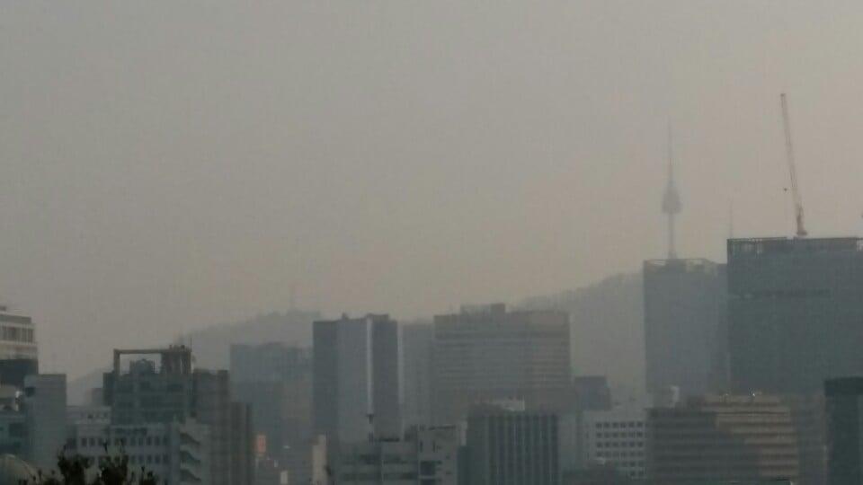 兩會期間大陸陰霾襲韓 南韓民眾怒罵中共