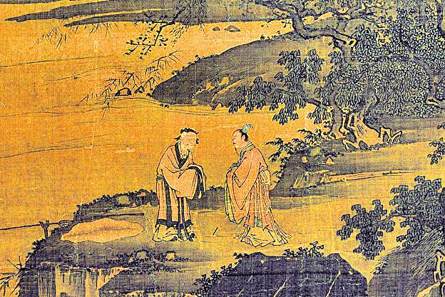 姜子牙協助武王伐紂,成為周朝的開國功臣。圖為明 戴進《渭濱垂釣圖》。(公有領域)