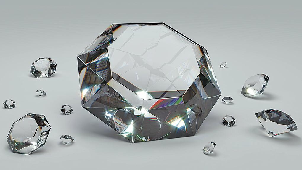 金剛石是世界上最堅硬的物質,它經過加工之後,變成價值極高的鑽石。(Pixabay)