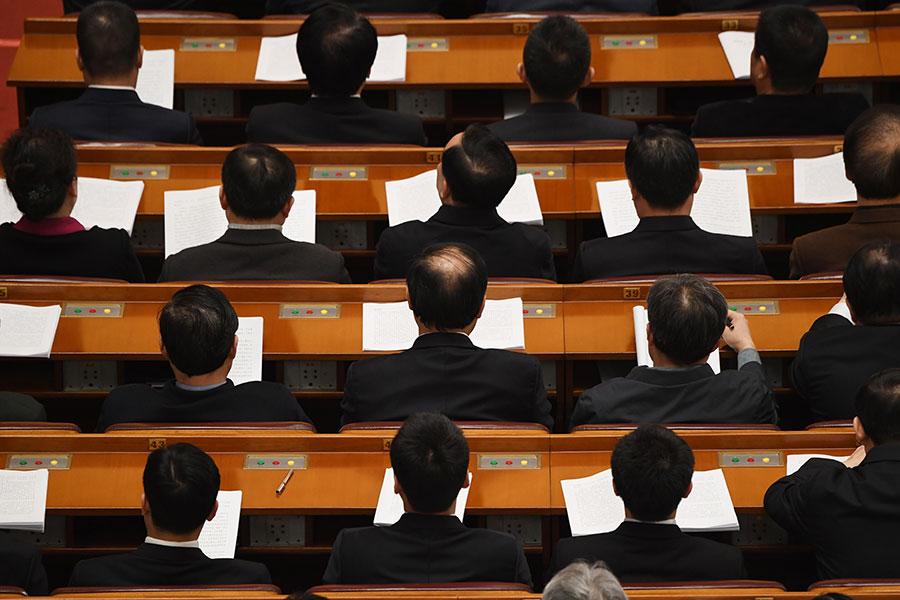 中共修憲刪改國家主席任期引起國際社會廣泛爭議。(GREG BAKER/AFP/Getty Images)