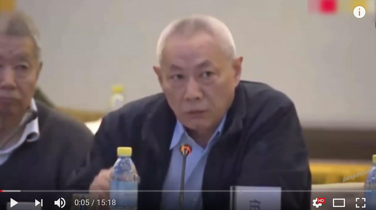 任志強2月25日參加中國經濟50人論壇,「大炮」本色依舊不減當年。(視像擷圖)