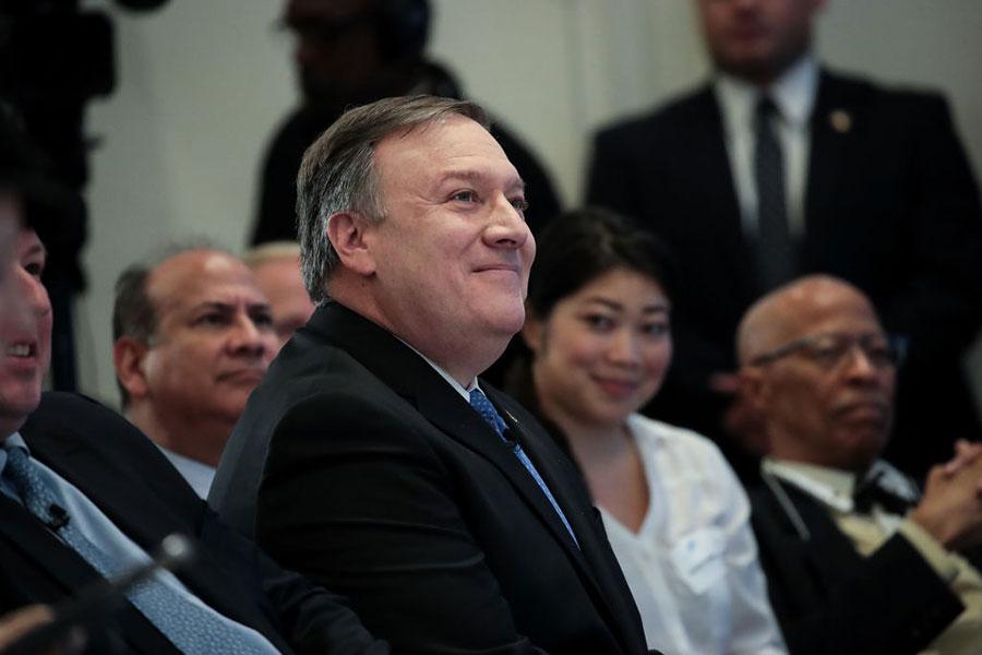美國中央情報局局長蓬佩奧(Mike Pompeo)將出任國務卿。(Drew Angerer/Getty Images)
