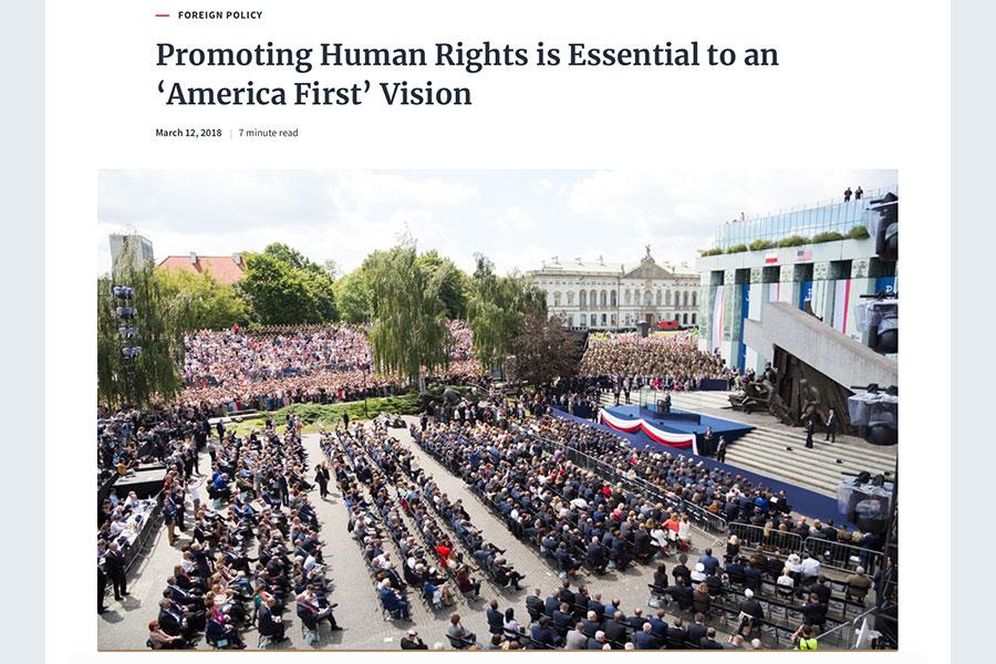 美韓分別與北韓舉行峰會前夕,人權問題再次引發關注。聯合國特使昆塔納3月12日呼籲將人權問題帶到談談桌。當天,白宮也發表聲明強調,推動人權對「美國優先」必不可少,對提高美國影響力至關重要。(白宮網頁擷圖)