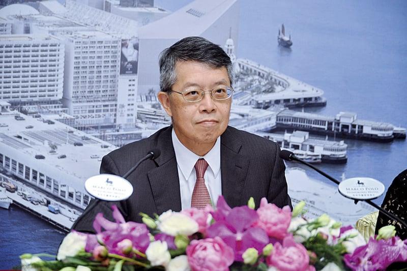 九倉主席吳天海指,本港零售市道吹淡風,未知零售熊市何時結束。(宋祥龍/大紀元)