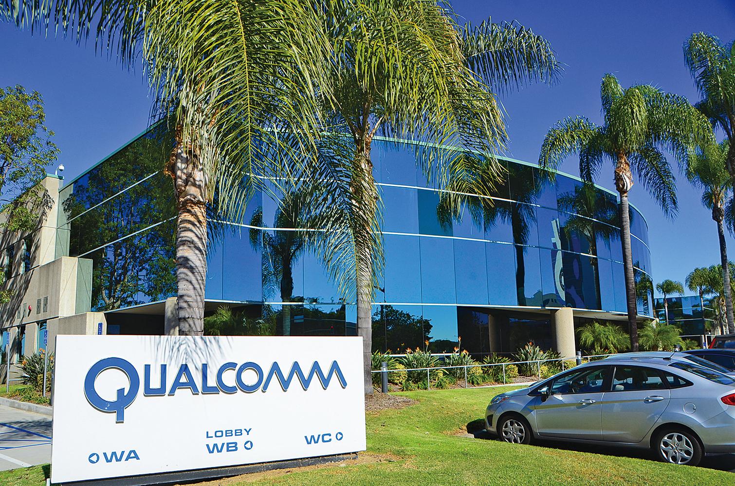 特朗普總統發出行政令,禁止新加坡博通公司(Broadcom)收購美國高通公司(Qualcomm),圖為高通公司總部。(李旭生/大紀元)