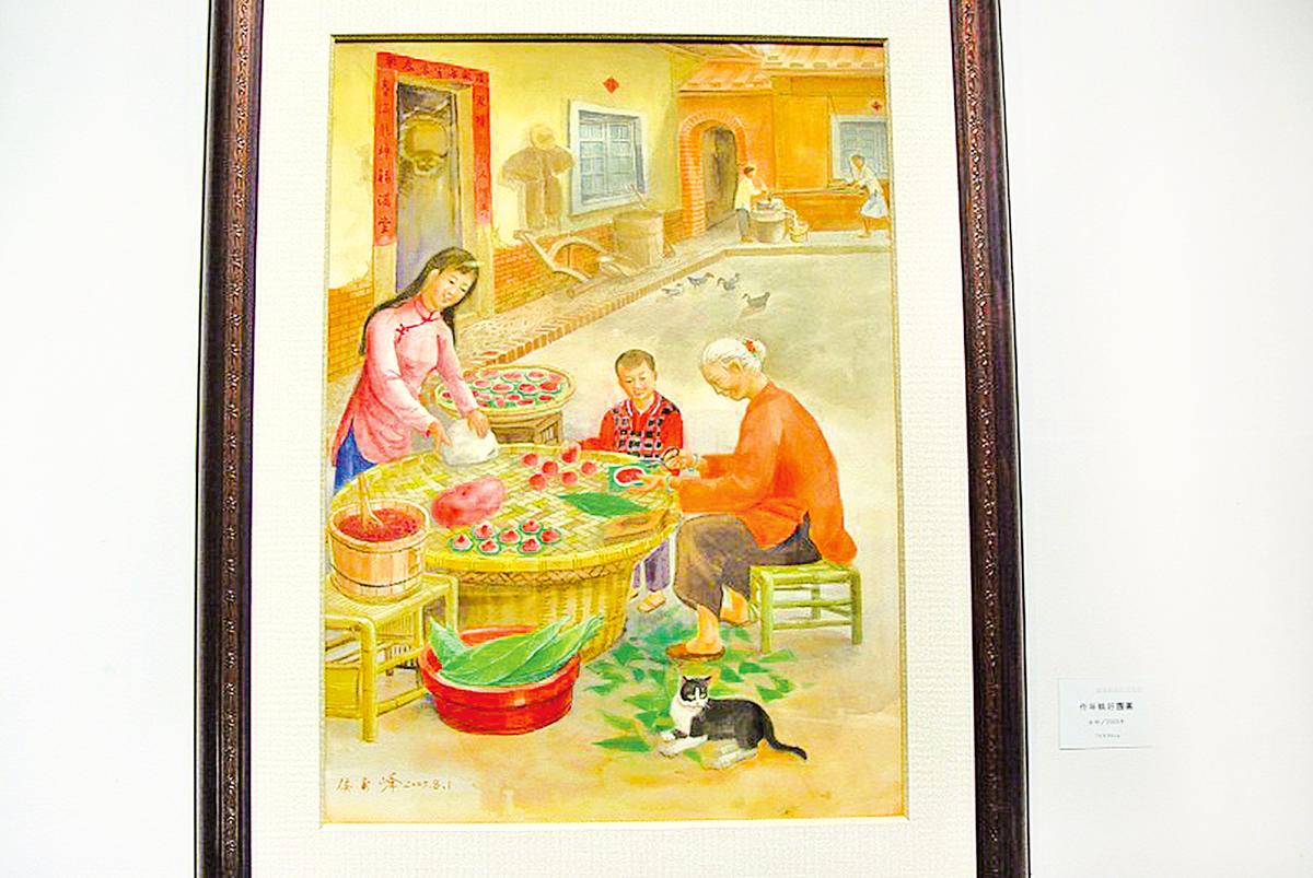 侯壽峰油畫。