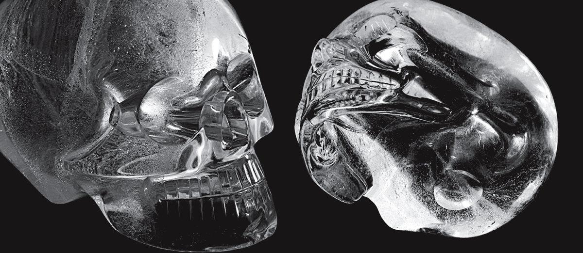 大英博物館內的水晶頭骨。(大英博物館官網)