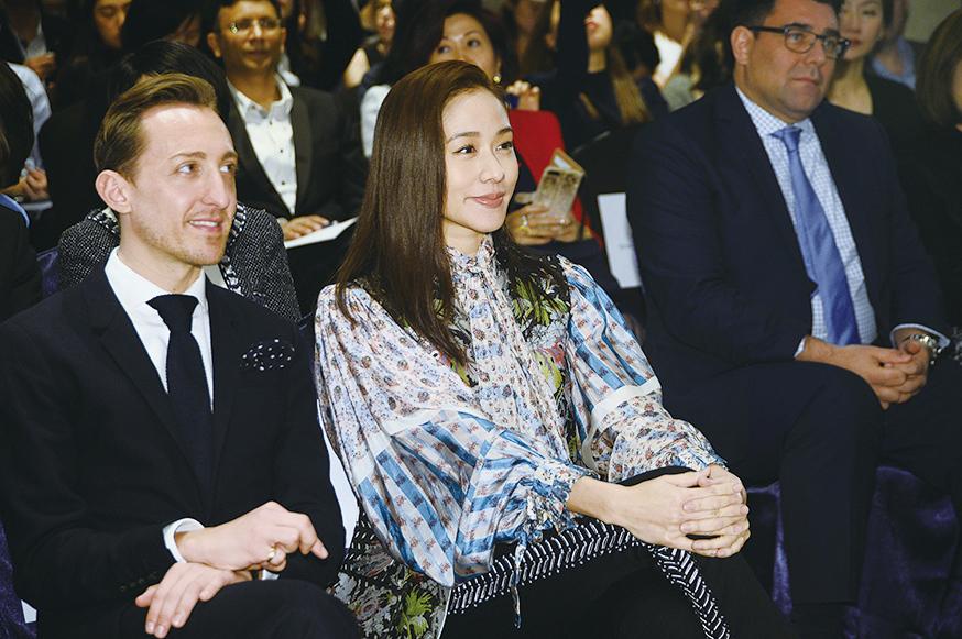 林嘉欣以「法國五月」大使身份出席「法國五月」新聞發佈會。(宋碧龍╱大紀元)