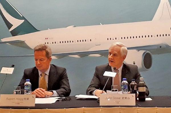 國泰航空全年虧損12.59億元 比前年增一倍多