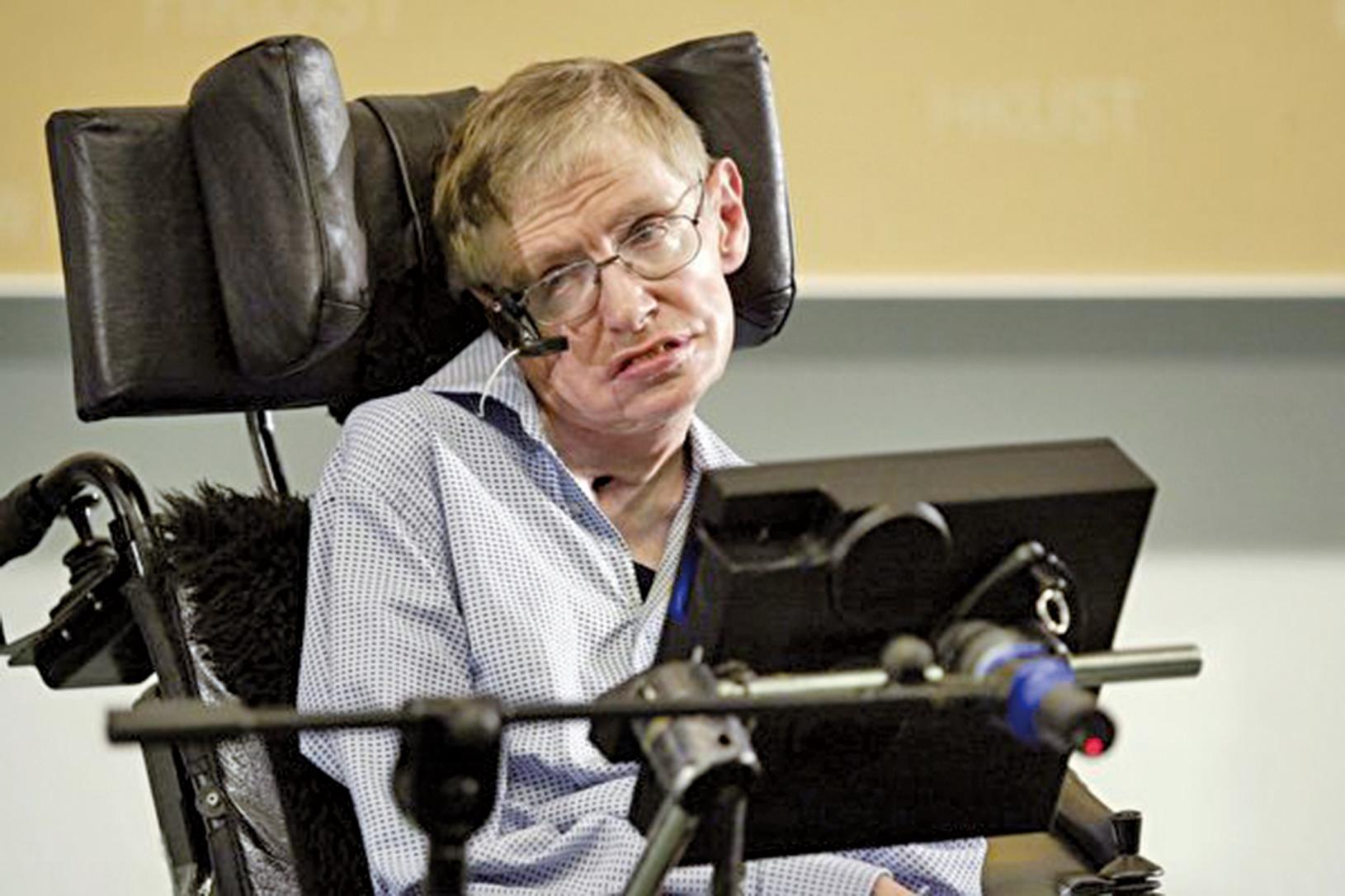 英國著名物理學家斯蒂芬.霍金(Stephen Hawking)。(吳璉宥/大紀元)