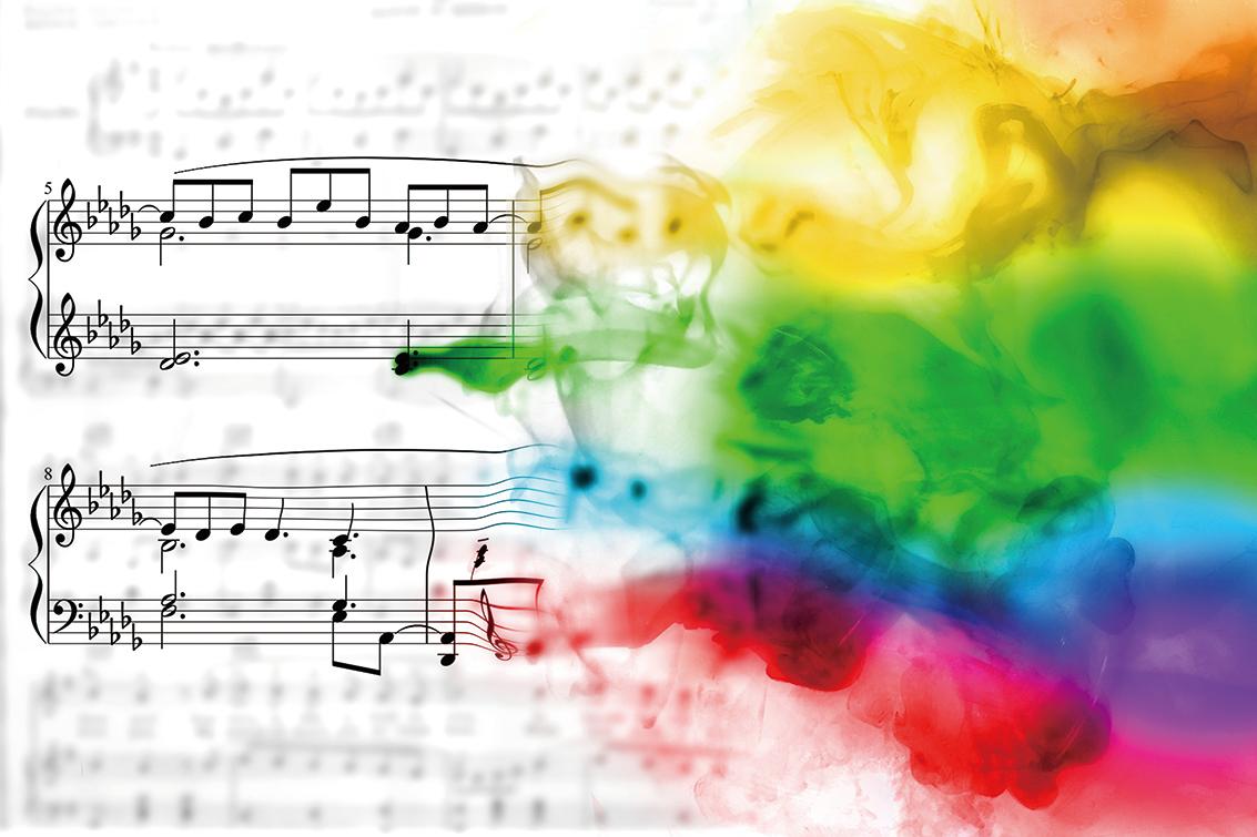 一種常見的聯覺形式是聲音與顏色的關聯,聽到音符或音調時會觸發聯覺人的顏色感知。(Pixabay)