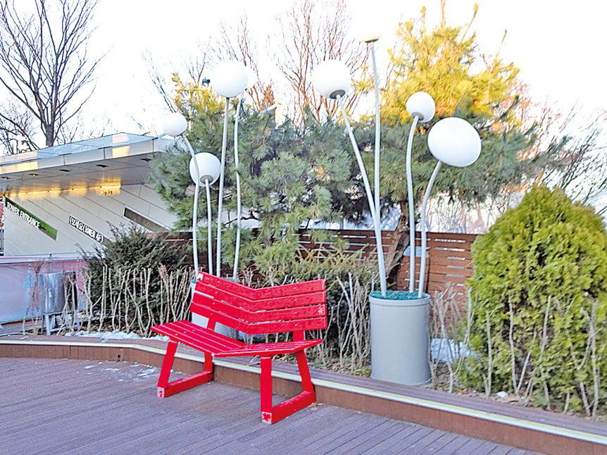 南山公園情人椅。