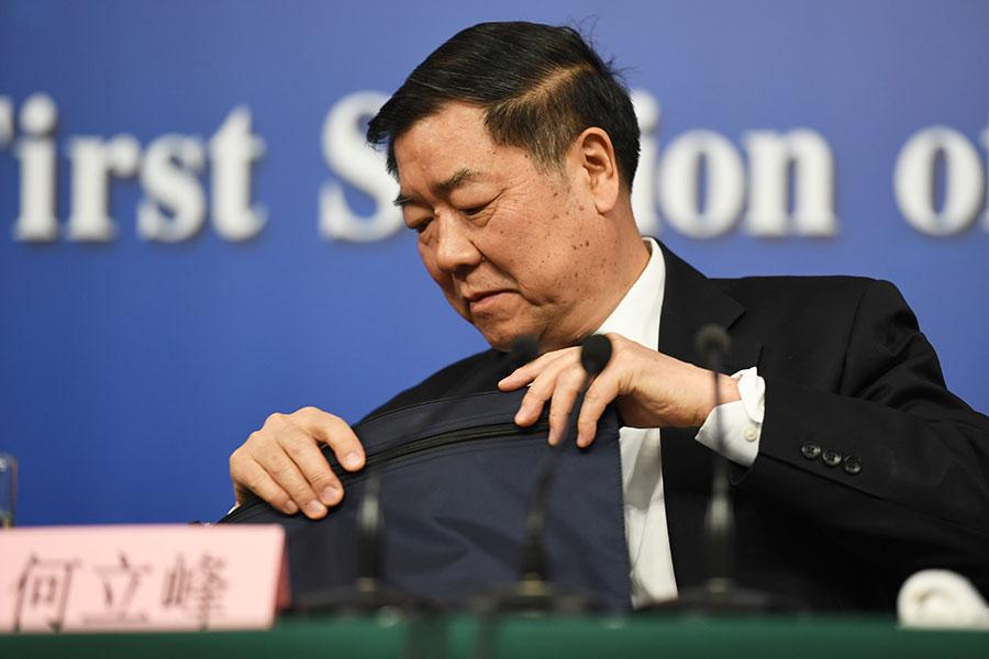 3月14日,習近平的兩舊部夏寶龍、何立峰(圖)當選中共政協副主席。(AFP/Getty Images)