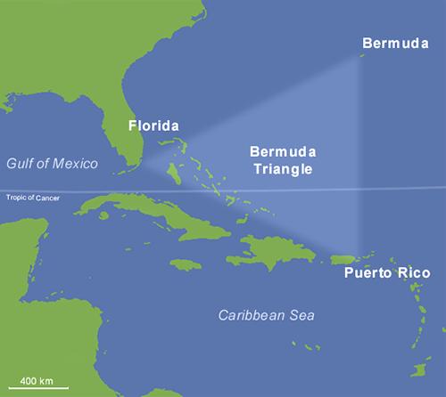 百慕達三角。(維基百科)