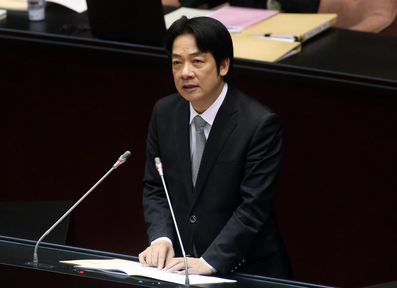 針對中共統戰台灣提出的31項「惠台」措施,台灣行政院長賴清德3月13日在立法院答詢時,都以中國(中共)「對台」的31項措施來稱呼。(中央社資料照)
