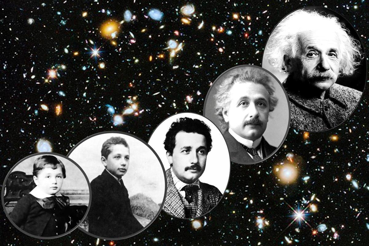 愛因斯坦頭像合成圖。(維基百科公有領域)