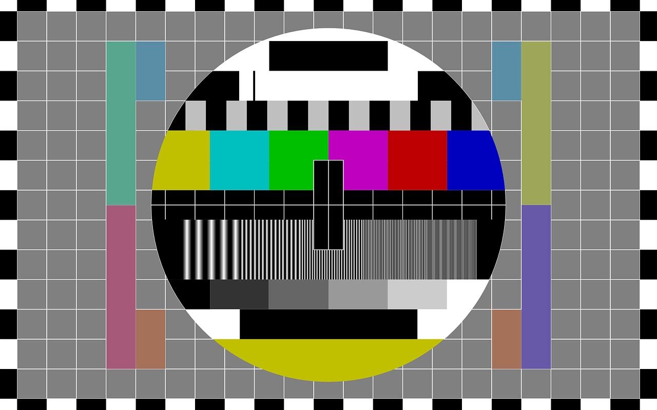 光電管彩色電視機的測試圖像。(Pixabay)