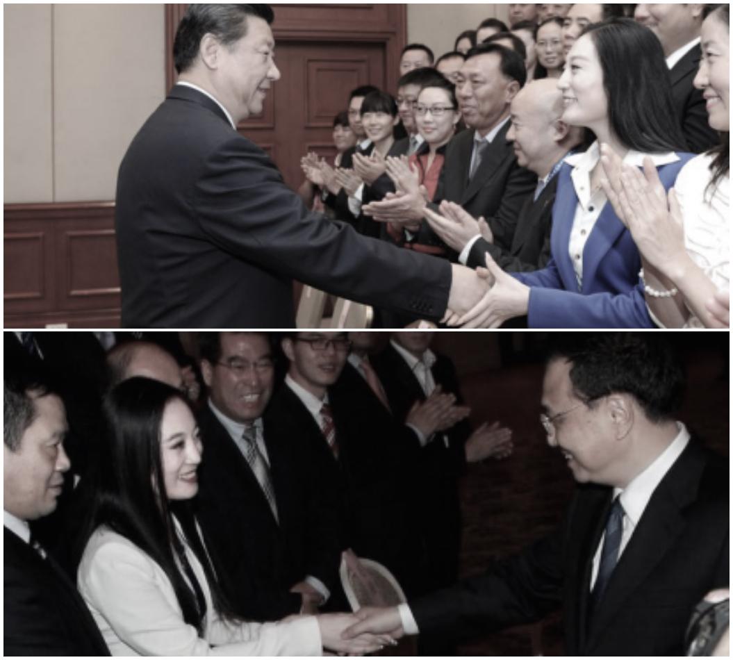 張慧君曾與習近平和李克強握手。(網路圖片)