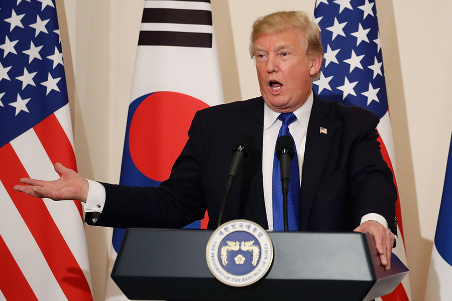 儘管北韓方面迄今保持沉默,但是白宮周五(3月16日)說,特朗普總統仍然打算在5月底前會晤金正恩。(Chung Sung-Jun/Getty Images)