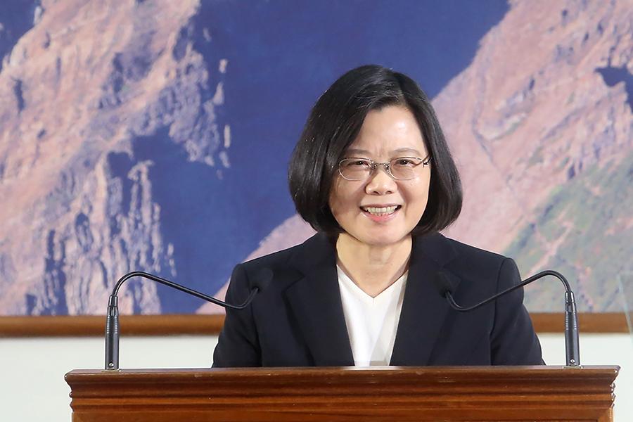 美國總統特朗普簽署《台灣旅行法》,正式立法生效,台灣總統蔡英文3月17日在推特上感謝特朗普。(中央社檔案照片)