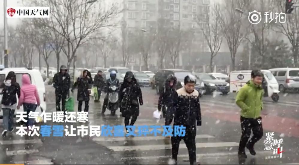 在3月17日上午的中共全國人大全體會議上,「選」出了國家主席、副主席、人大委員長等一眾中共領導人。湊巧這天整個冬天都沒怎麼下雪的北京突然下起雪來,引來熱議。(視像擷圖)
