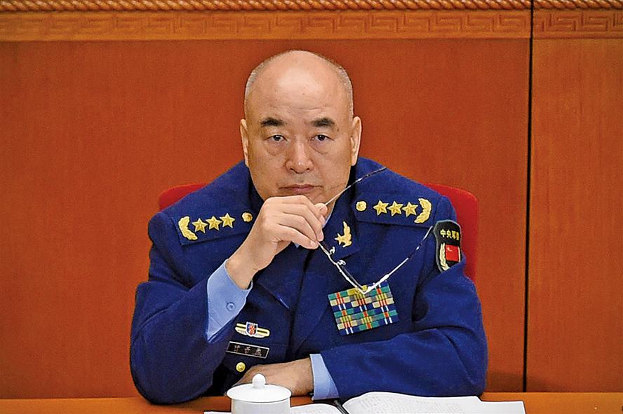 中共軍委副主席許其亮。(Getty Images)