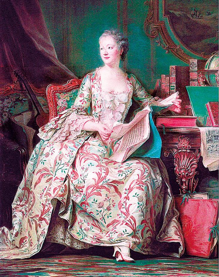 龐巴度夫人,1755年康坦德拉圖爾繪。