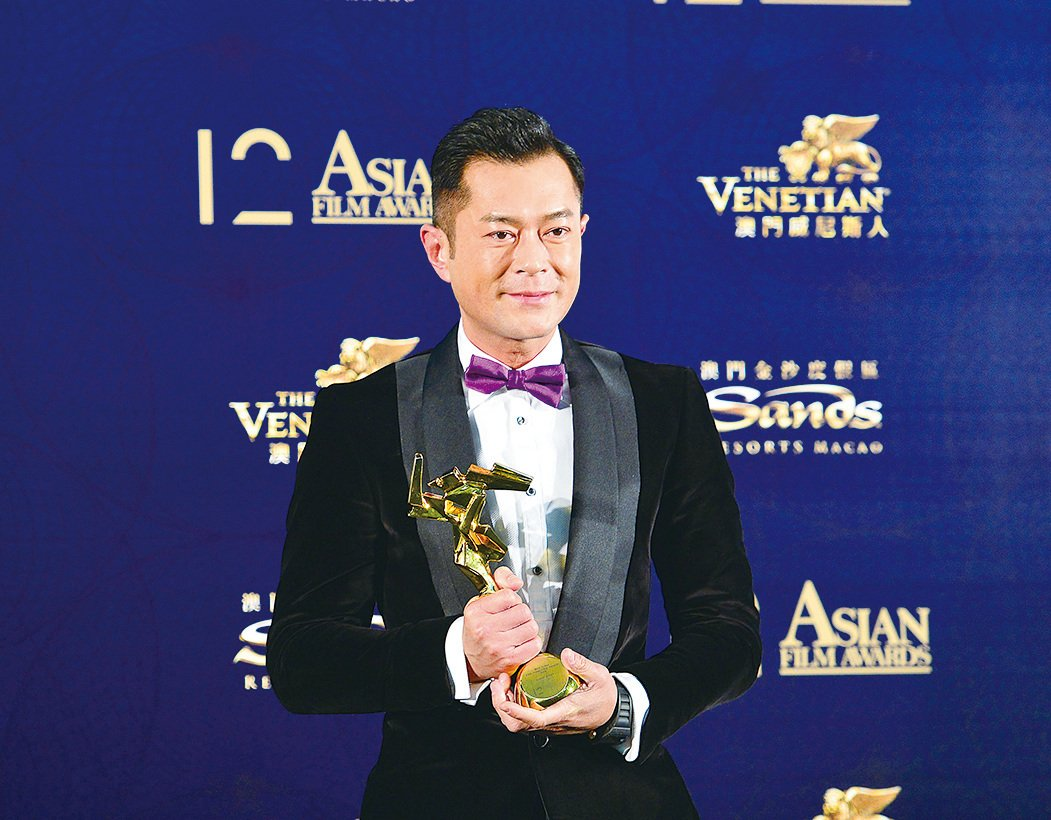 古天樂以電影《殺破狼‧貪狼》封影帝,獲亞洲電影大獎最佳男主角獎。(大紀元資料室)