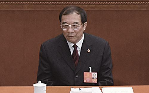 3月18日,中共中紀委副書記楊曉渡成為首任監察委主任。(AFP)