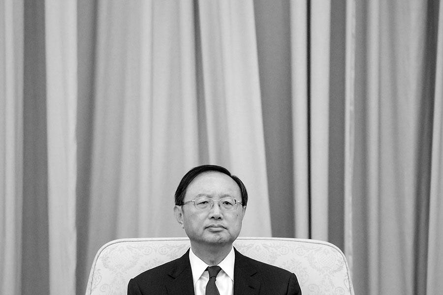 中共外長楊潔篪落選國務院副總理出乎各界意外。(Etienne Oliveau/Getty Images)