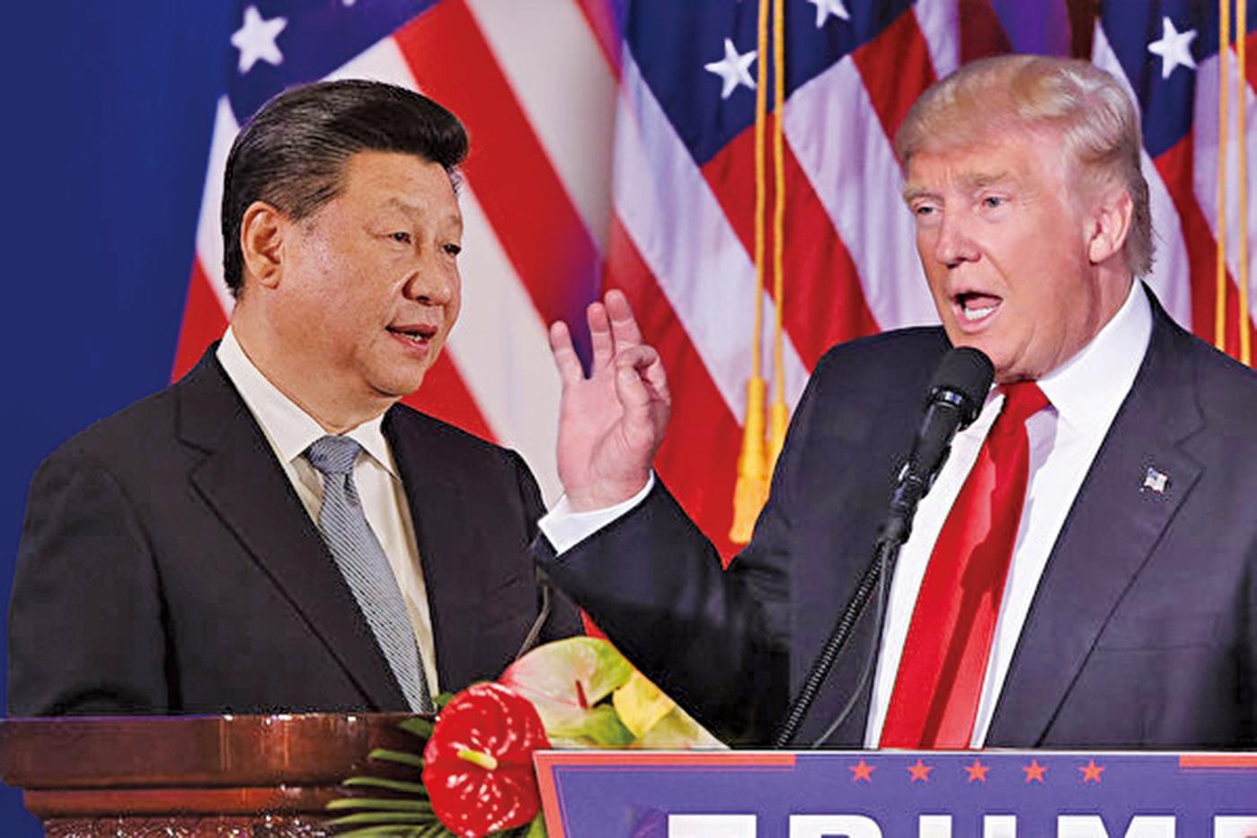 在朝鮮半島的問題上,美國與中國的利益相似,即北韓不能被南韓吞併及朝鮮半島無核化。圖為中共國家領導人習近平(左)及美國總統特朗普(右)。