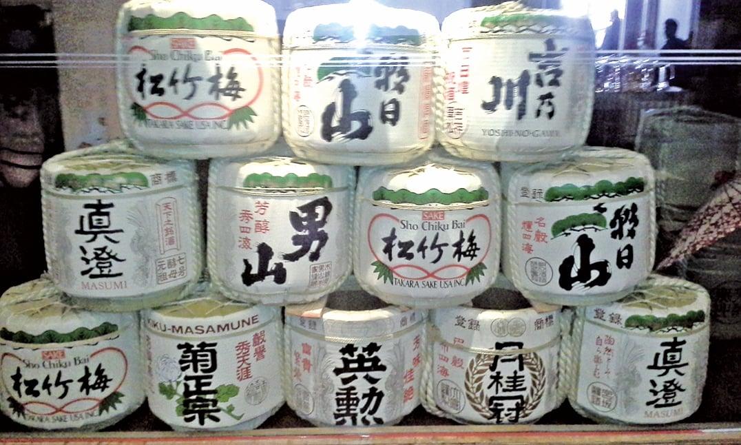 在日本,頂尖酒莊產釀的優質清酒,風味各異。