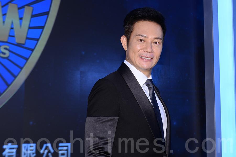 張兆輝表示簽約邵氏是希望作多方面的嘗試,可以接觸不同的戲種。(宋碧龍/大紀元)