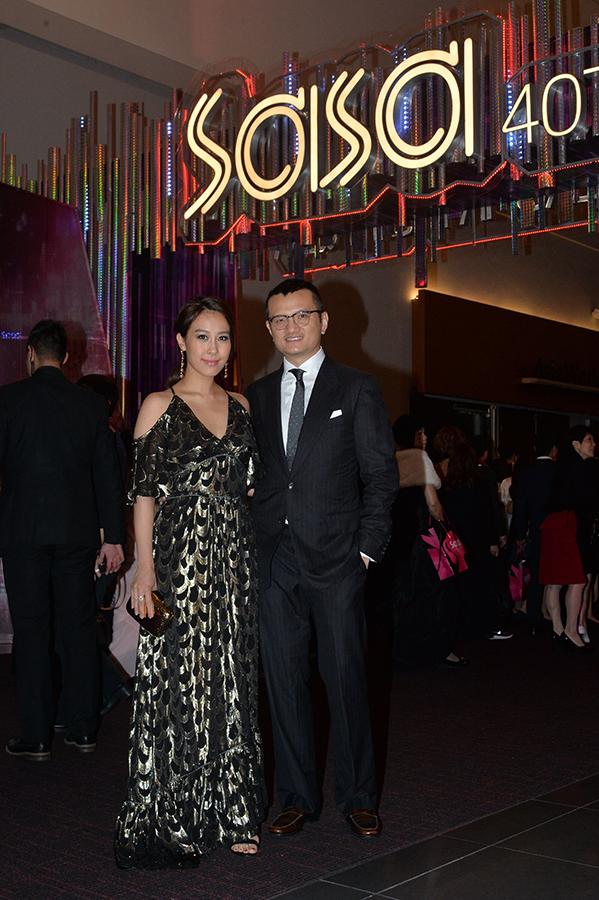 (左起)曹敏莉和丈夫張家傑。(Buzz Agency提供)