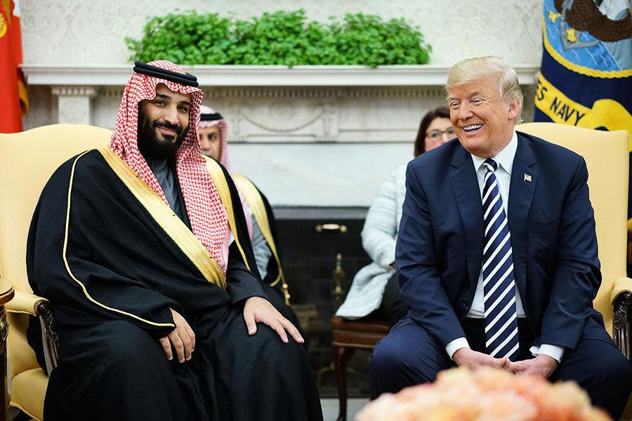 特朗普會見沙特王儲 談及伊朗核協議