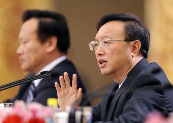 3月19日,未當選中共副總理的楊潔篪據悉表現十分低調。(法新社)