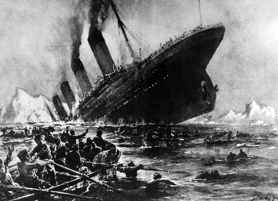 圖為鐵達尼號(大陸譯泰坦尼克號)。(OFF/AFP/Getty Images)