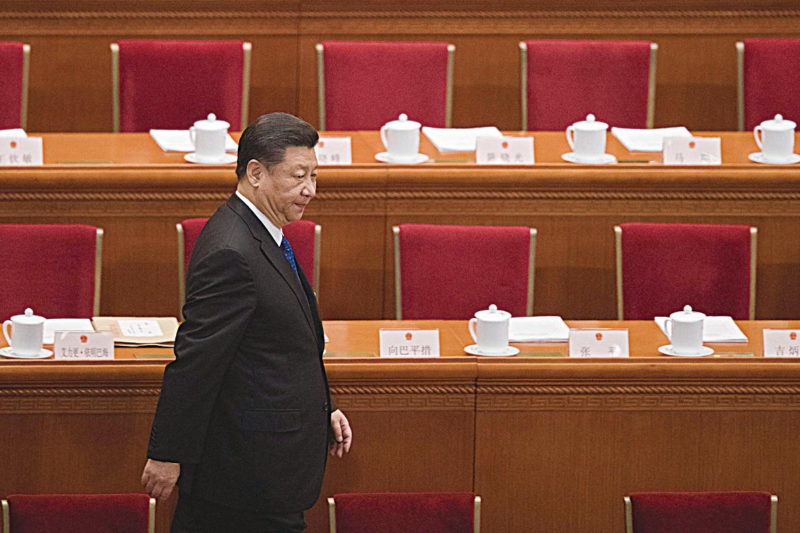 習近平在2018年中共兩會上。 (AFP/Getty Images)