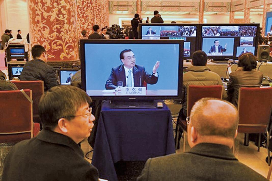 有台媒報道,兩會期間,為讓全民聚焦這場盛會,全中國只剩北京能有大新聞,其它省市也都配合儘量不發出聲音。(Getty Images)