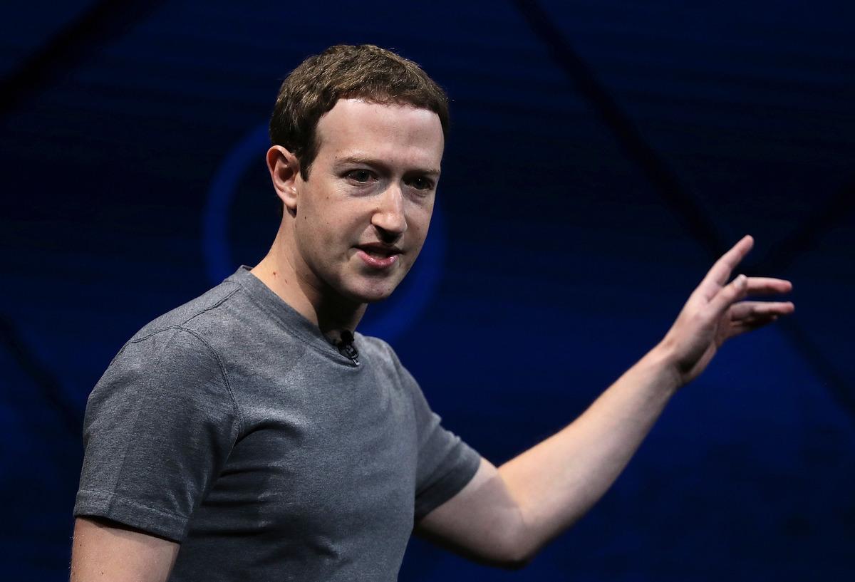圖為臉書的創始人兼首席執行官朱克伯格。(Getty Images)